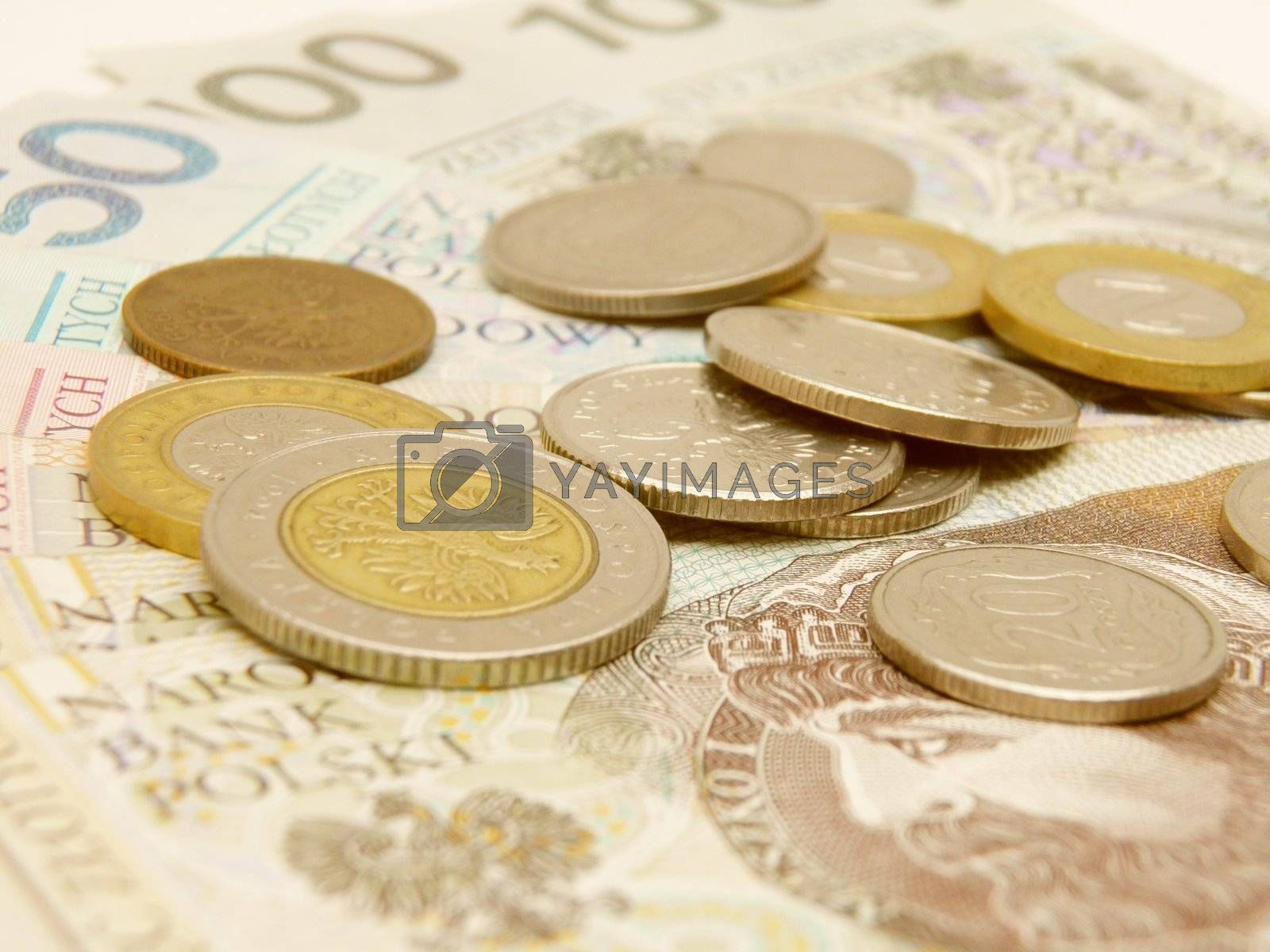 Polish zloty currency money - banknotes and coins