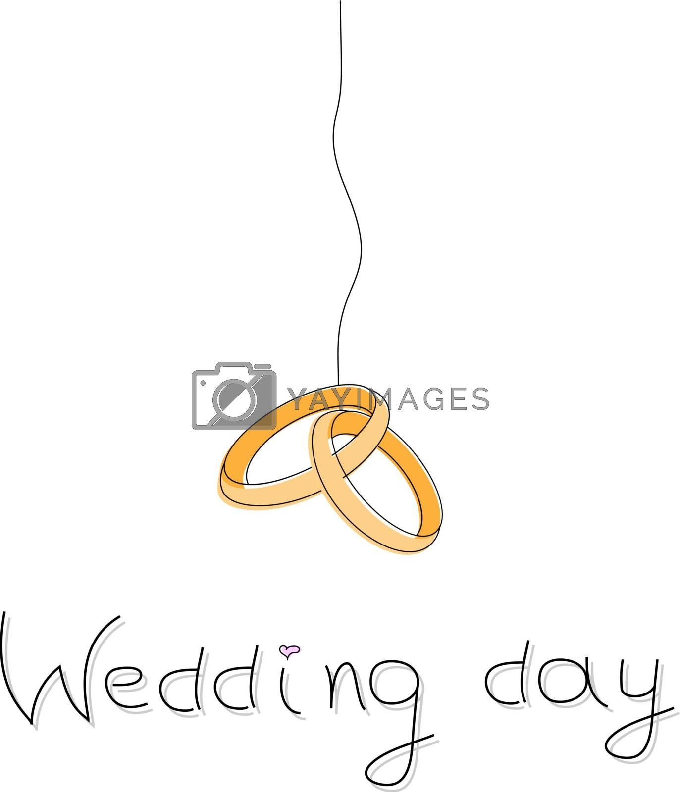 Vector picture of wedding rings