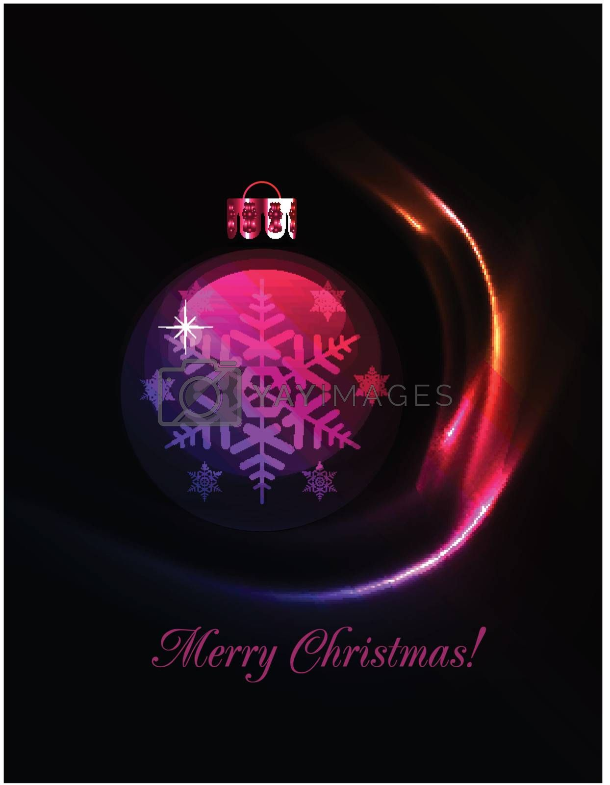Christmas decoration stylized ball. Vector illustration. EPS10