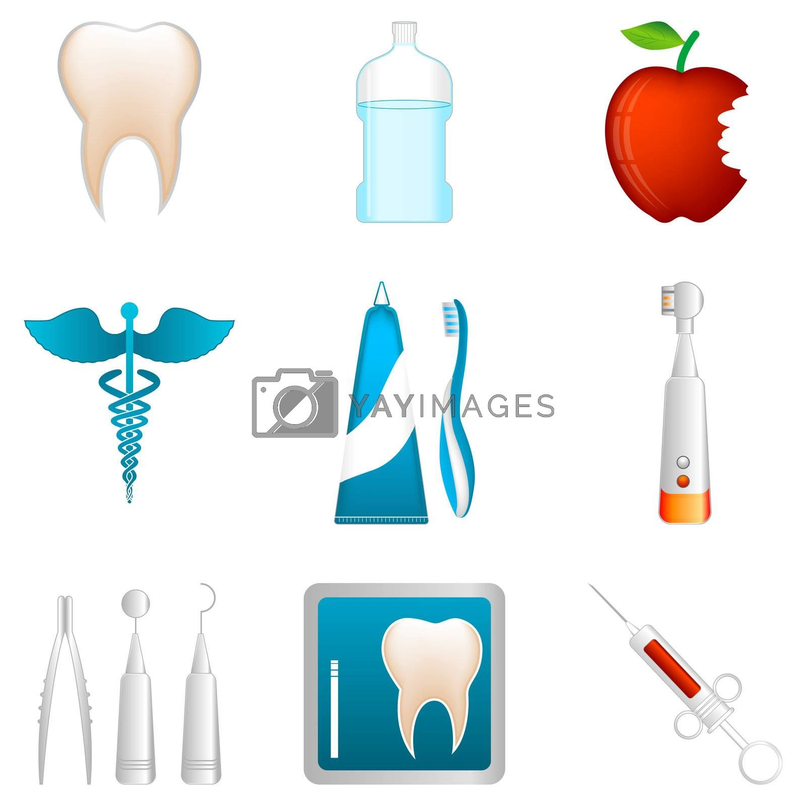 dental icons by get4net