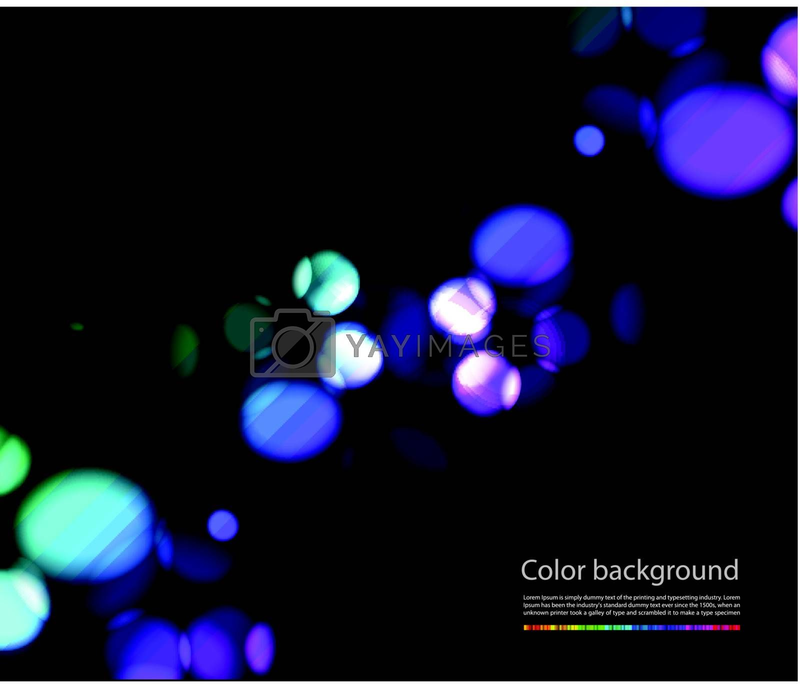 Bokeh vector lights effects on black background