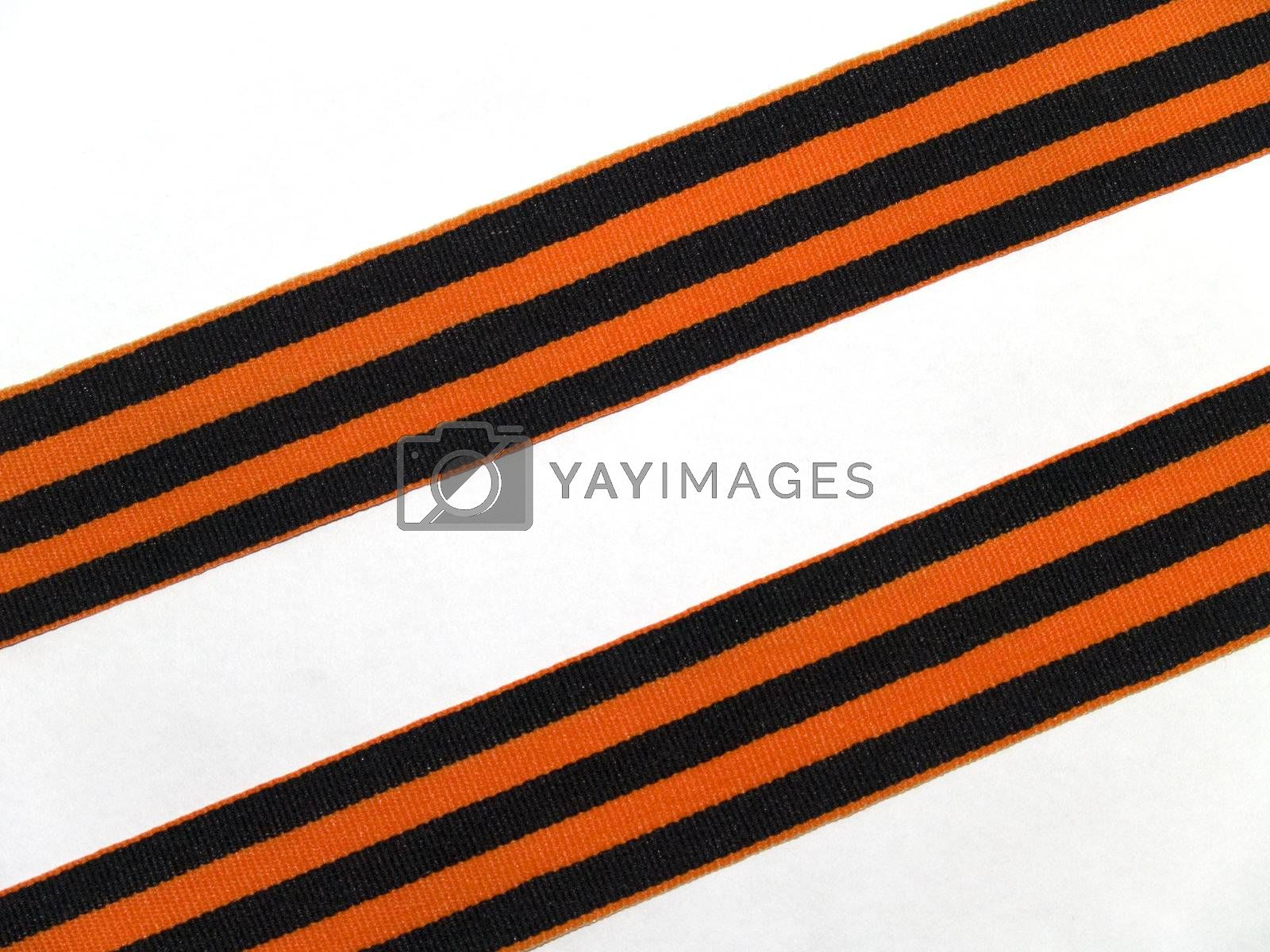 It's the ribbon of Saint George, Symbol of Russian Victory Day of World war 1941-1945