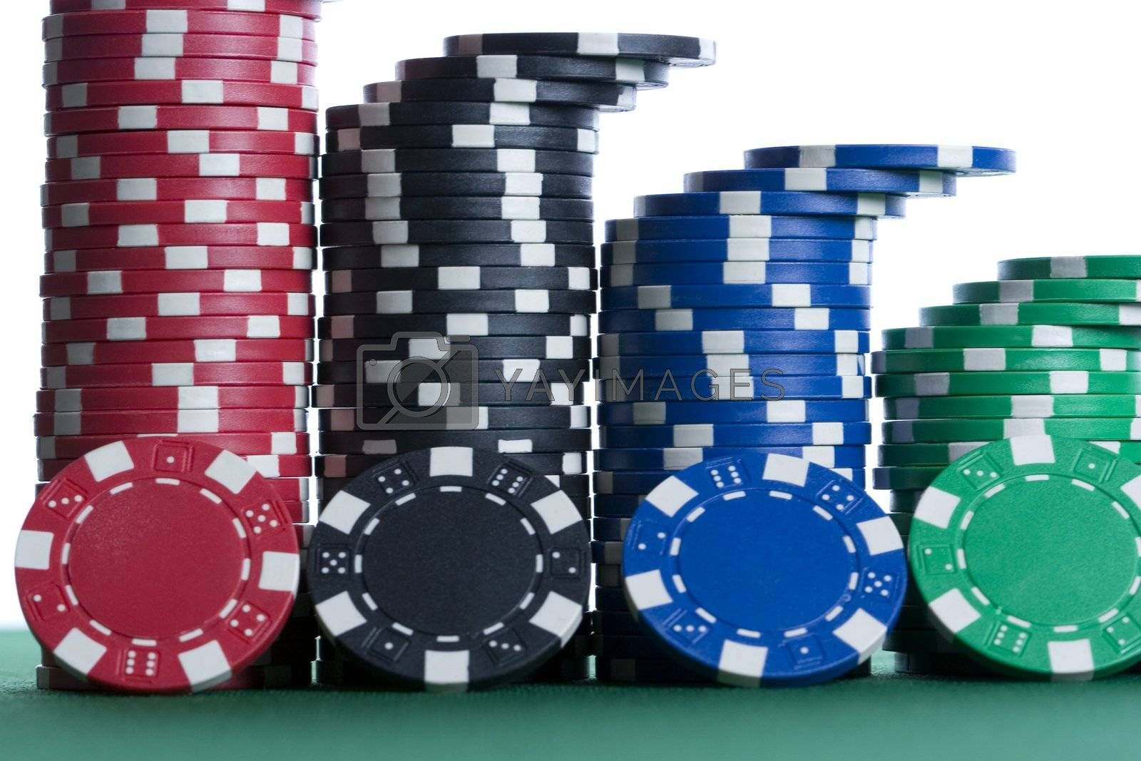 Woks Bars Stacked With Colored Poker Chips Royalty Free Stock Image Stock Photos Royalty Free Images Vectors Footage Yayimages