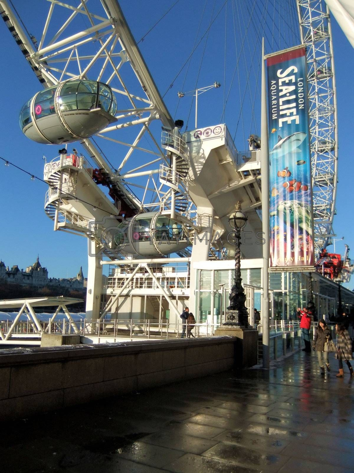 Entry area to London Eye