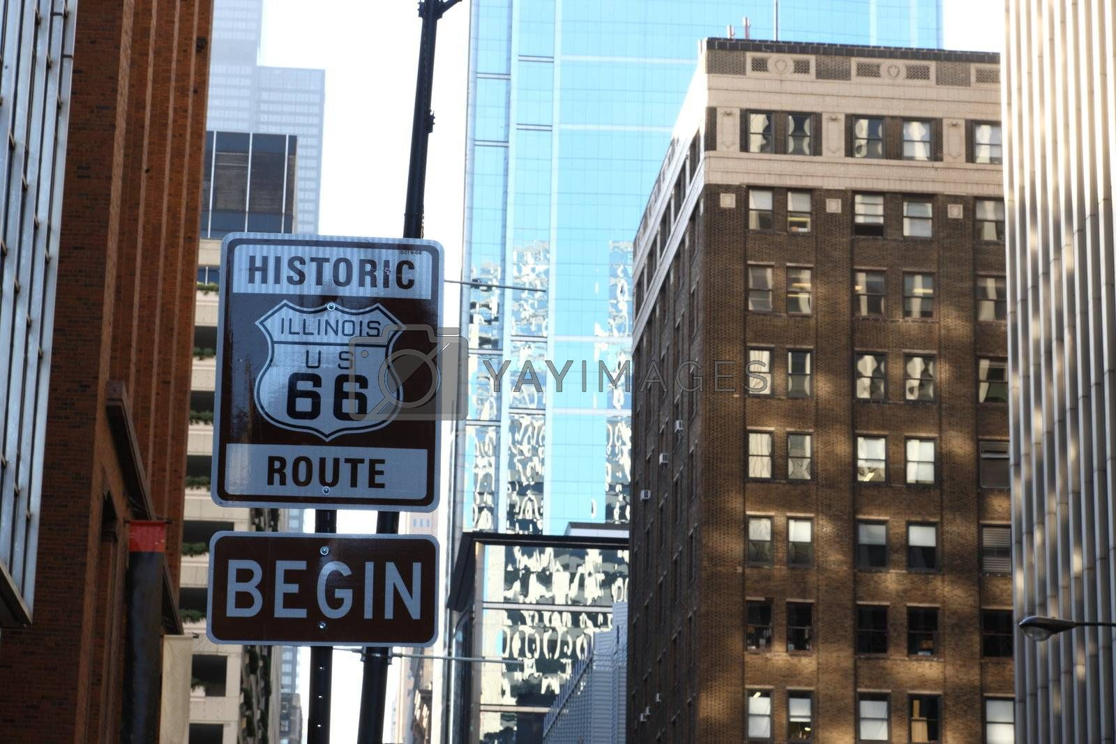 Begin of Route 66 in Chicago by AchimHB