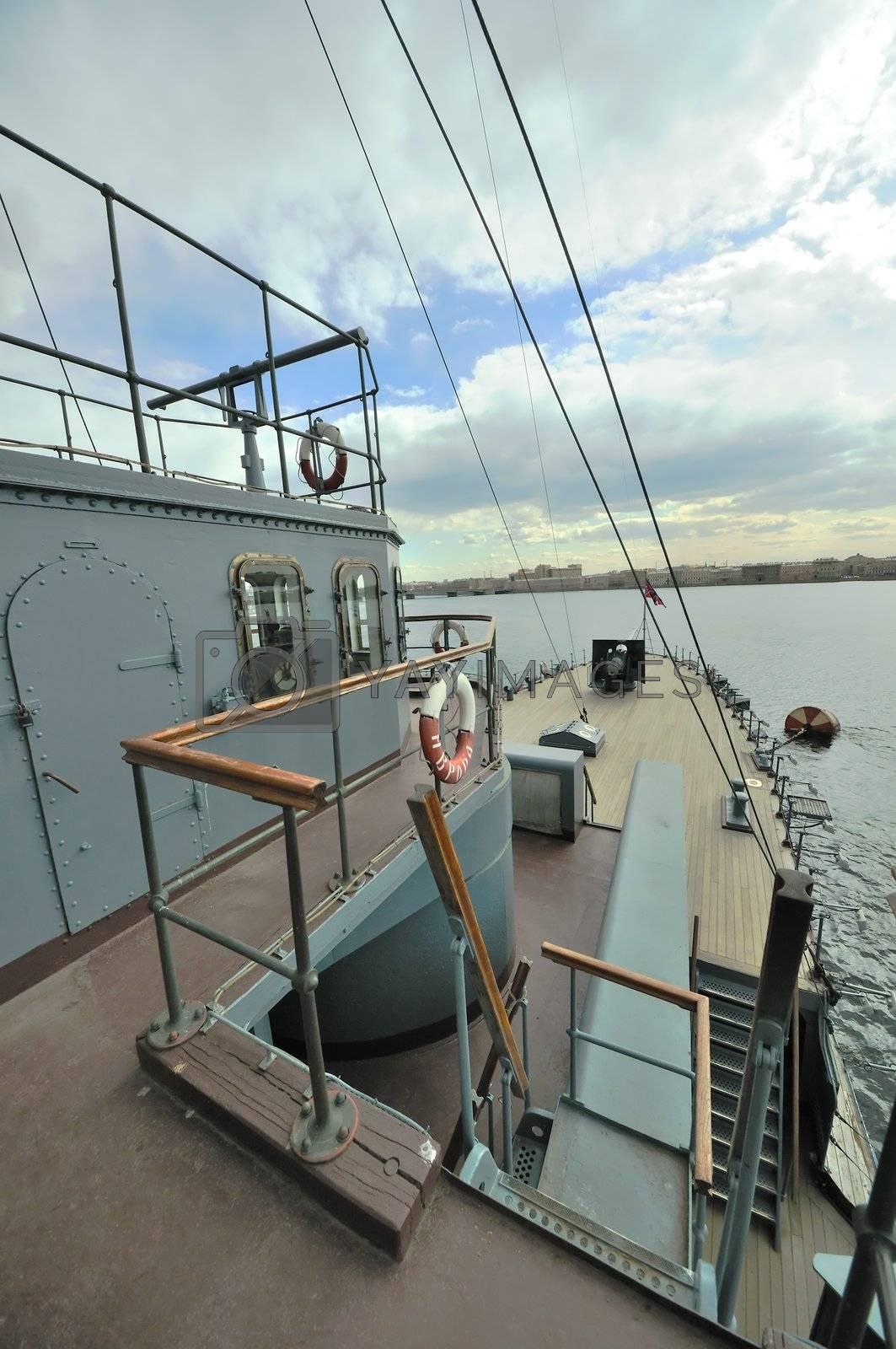 "St. Petersburg. Russia. Revolution Landmark cruiser ""Aurora""."