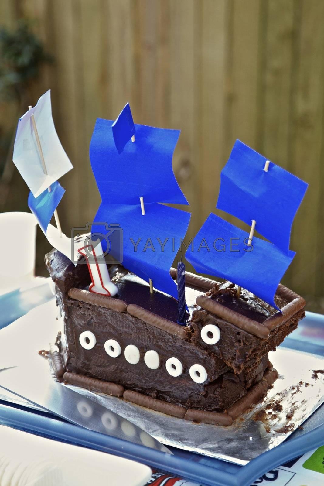 Children's 1st Birthday Cake, Sailing Boat