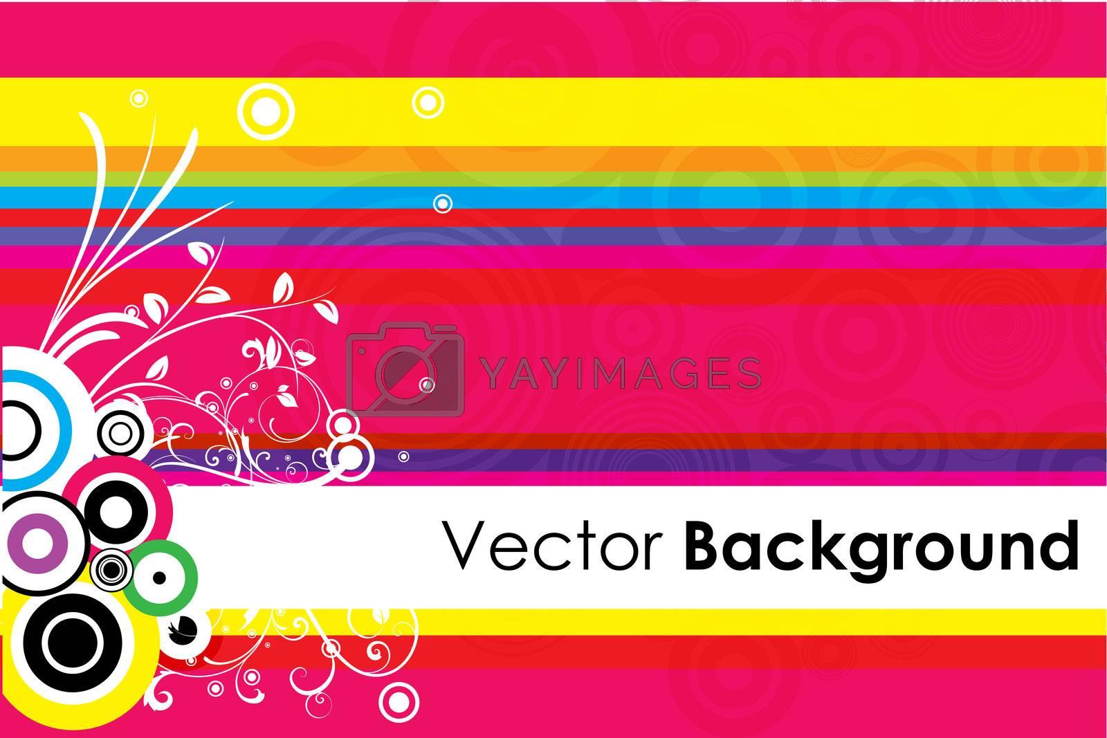 illustration of floral vector background