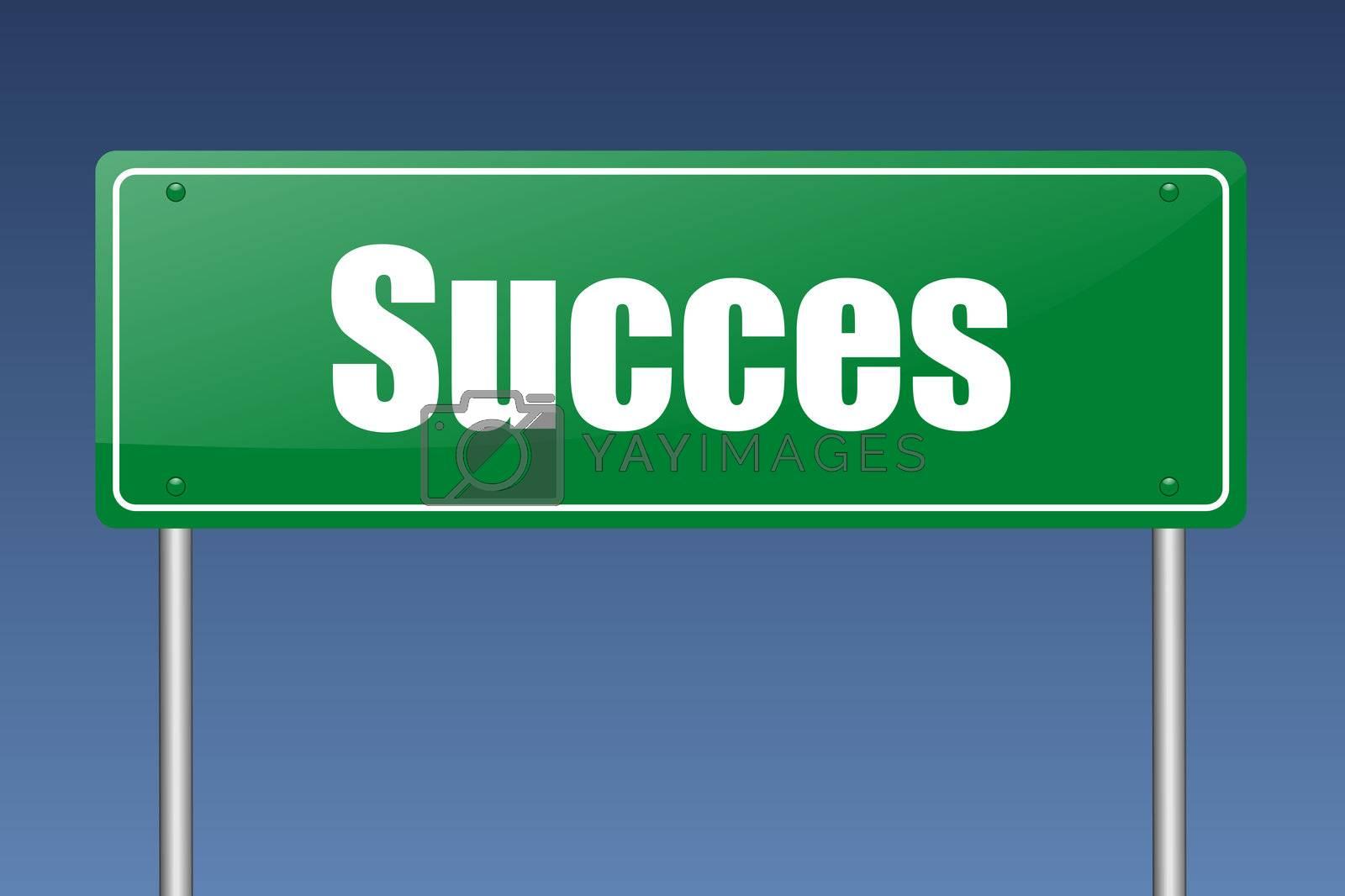 succes traffic sign