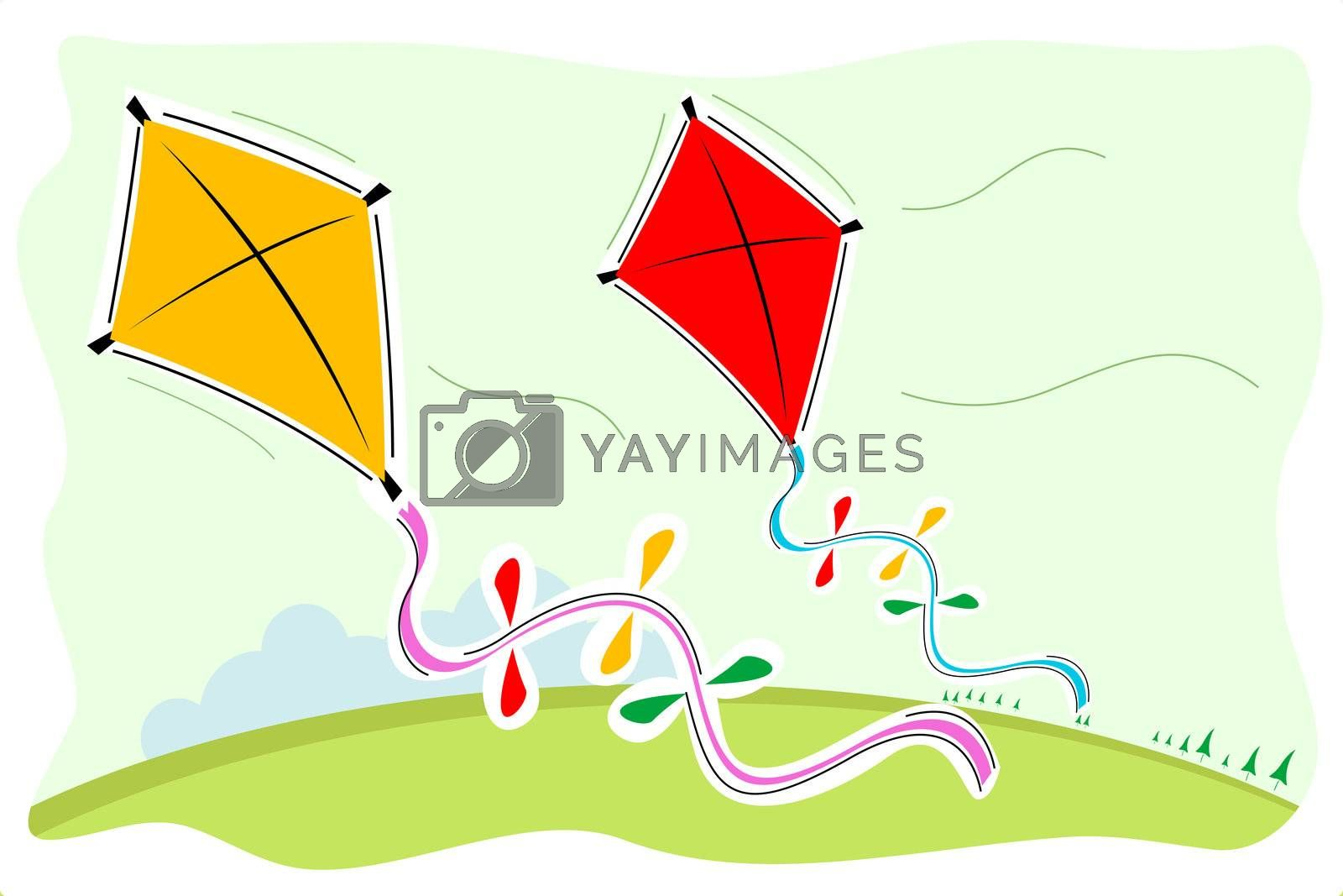 illustration of colorful kites