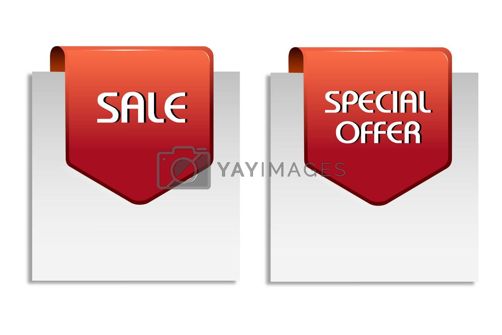 illustration of sale tag on white background