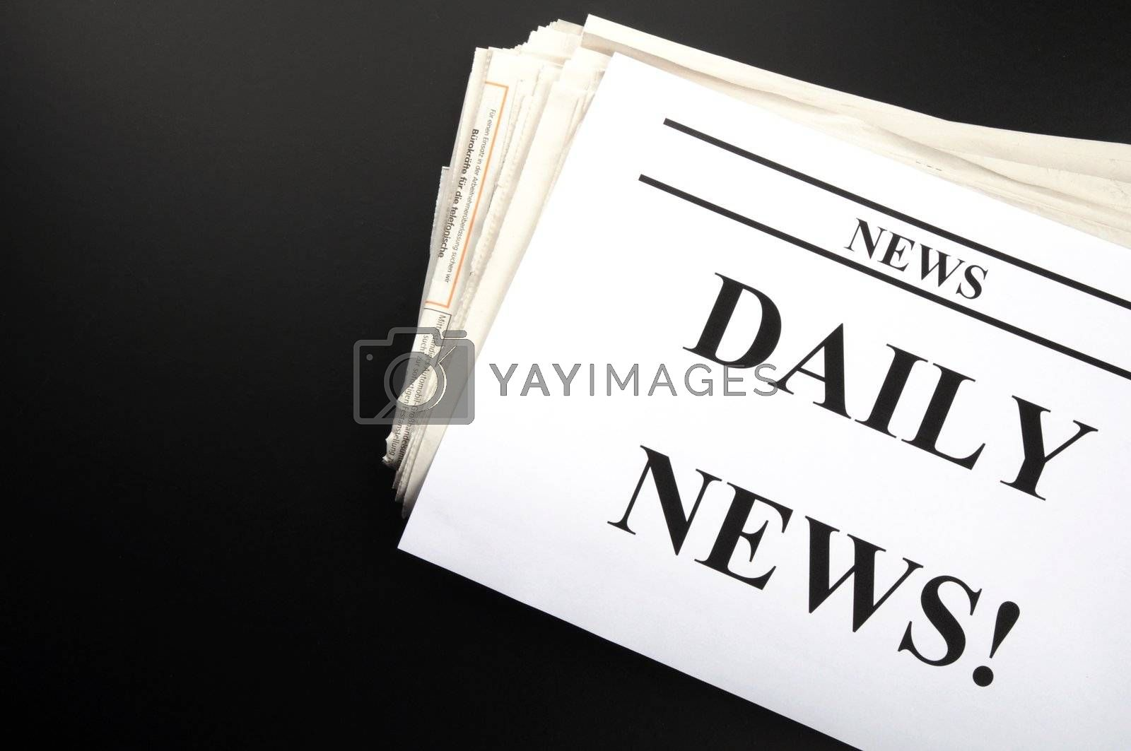 newspaper newsletter or news concept with pile of papers