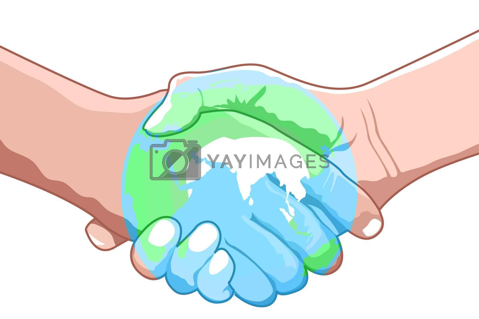 illustration of world deal on white background