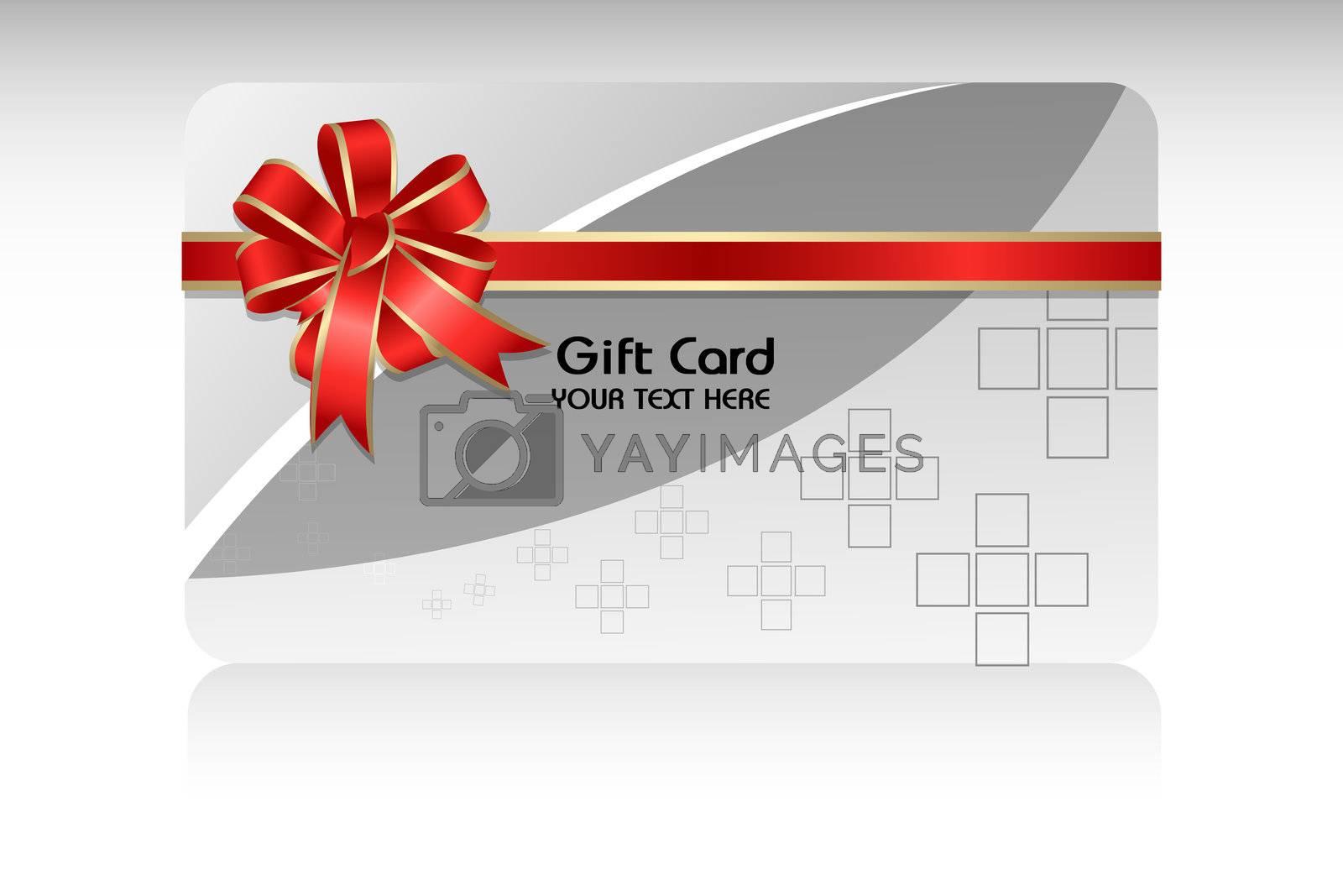 illustration of gift card on white background