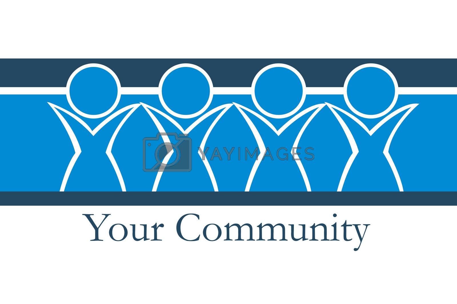 illustration of your community on white background