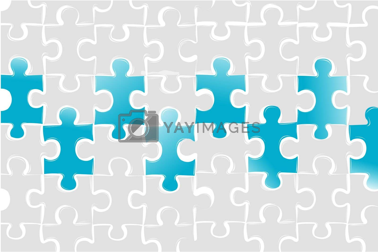 illustration of puzzled business card