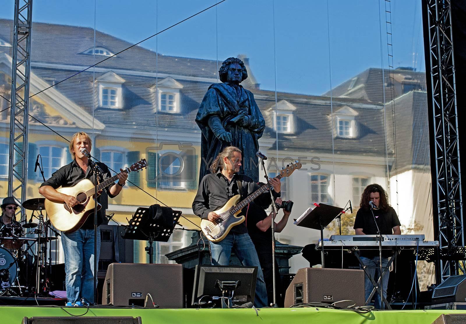 German Day of Unity, Bonn, photo taken on 1st of October 2011, concert of Knittler
