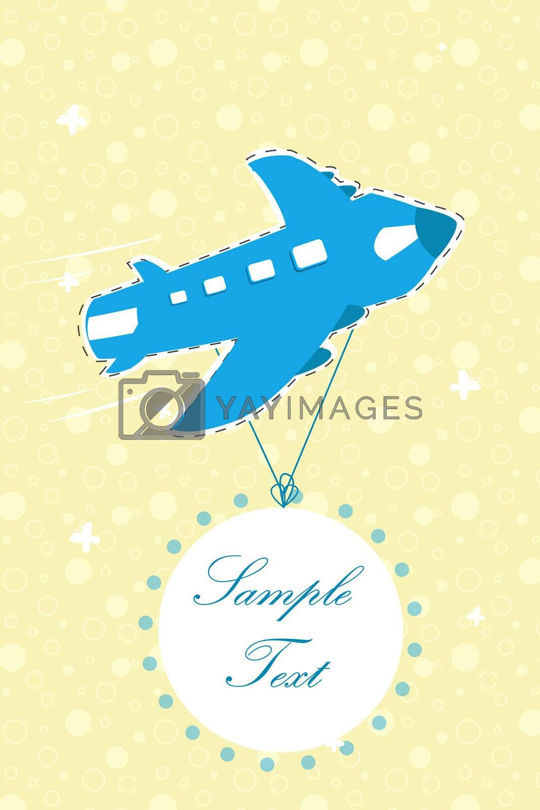 illustration of aeroplane on backdrop background