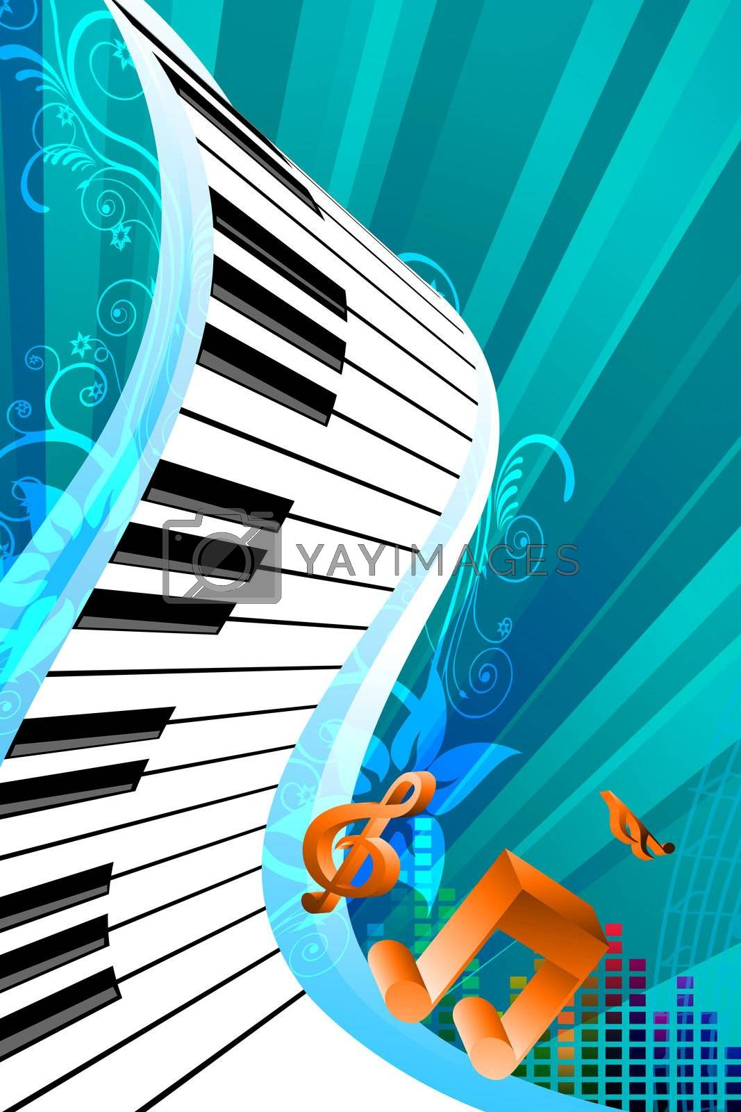 illustration of abstract music card