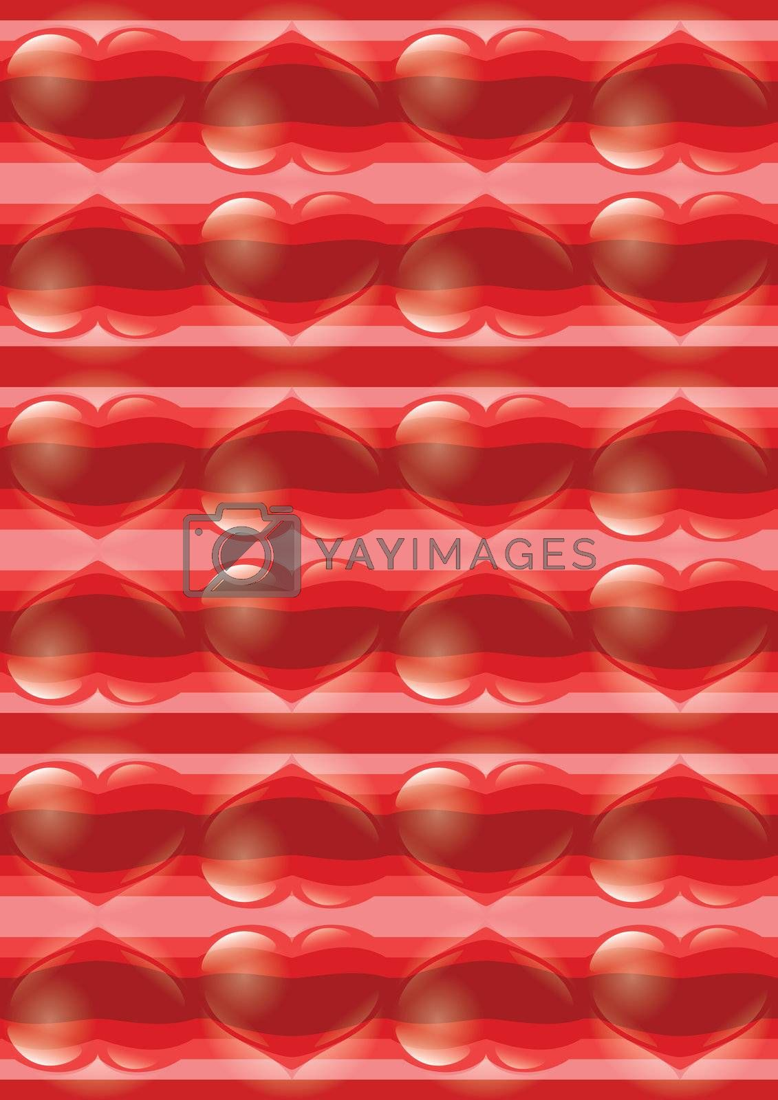 Abstract bright glowing Heart background. Valentine's Day.