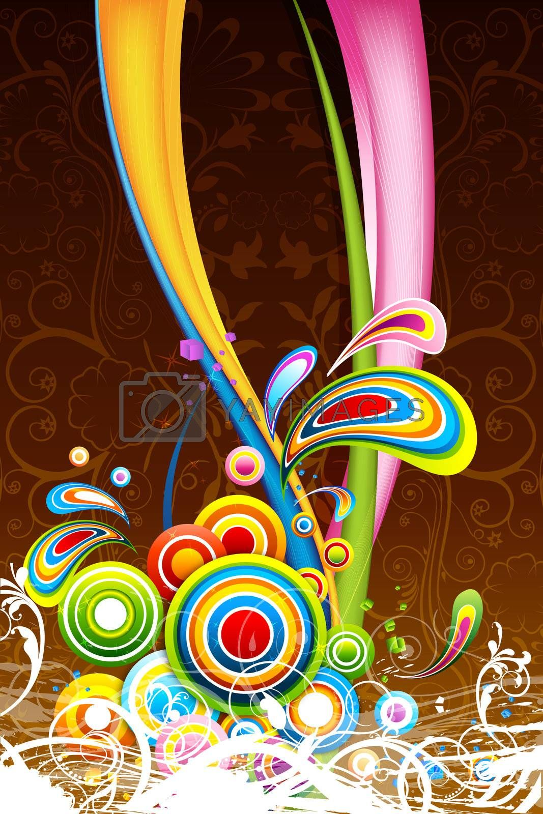 illustration of floral colorful background