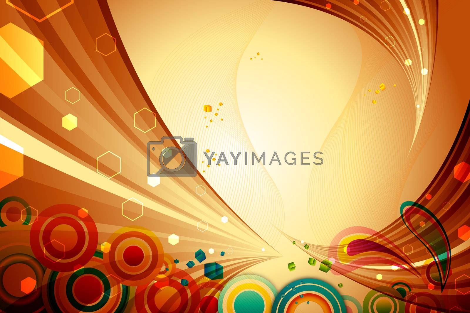 illustration of abstract colorful background