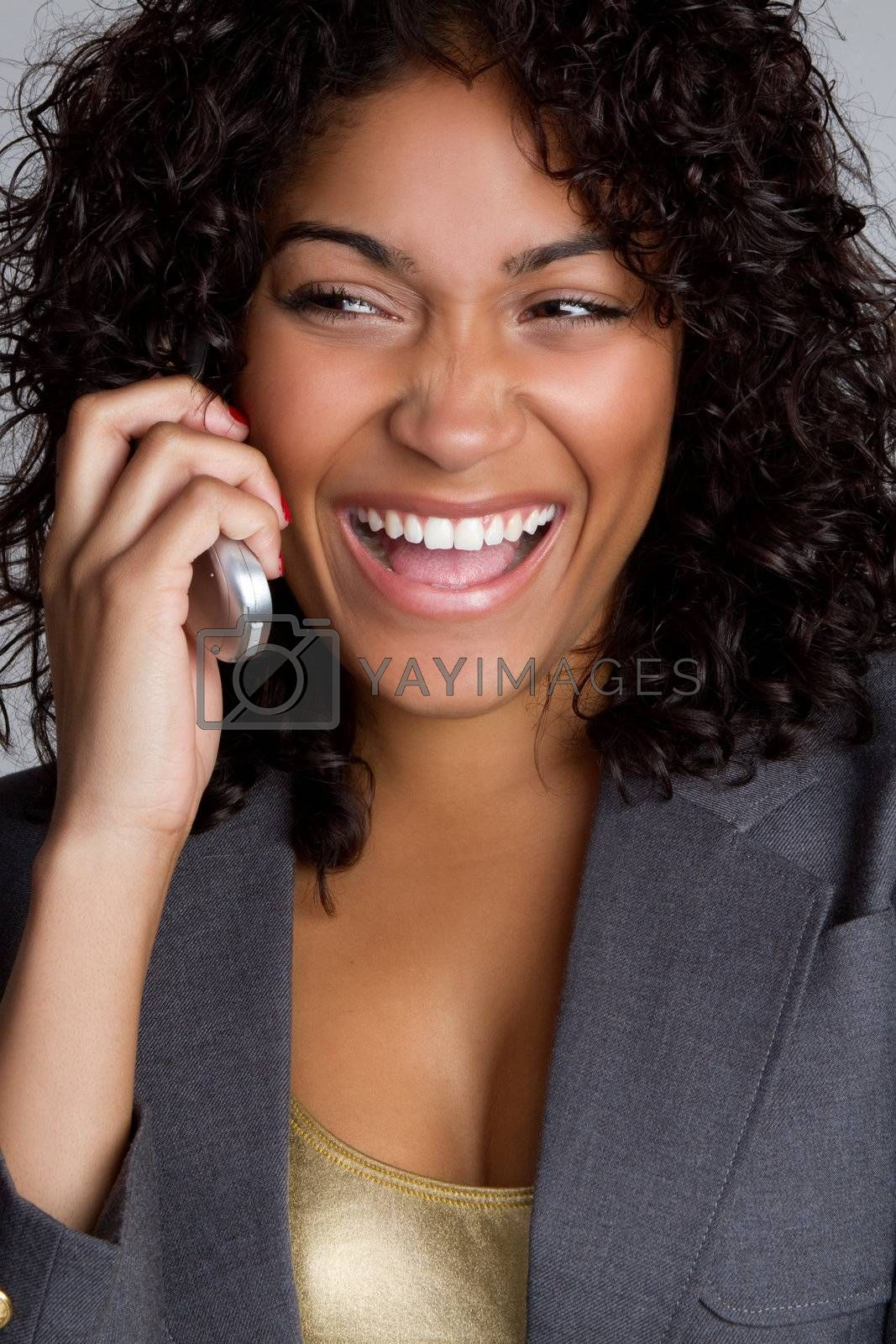 African american cell phone woman