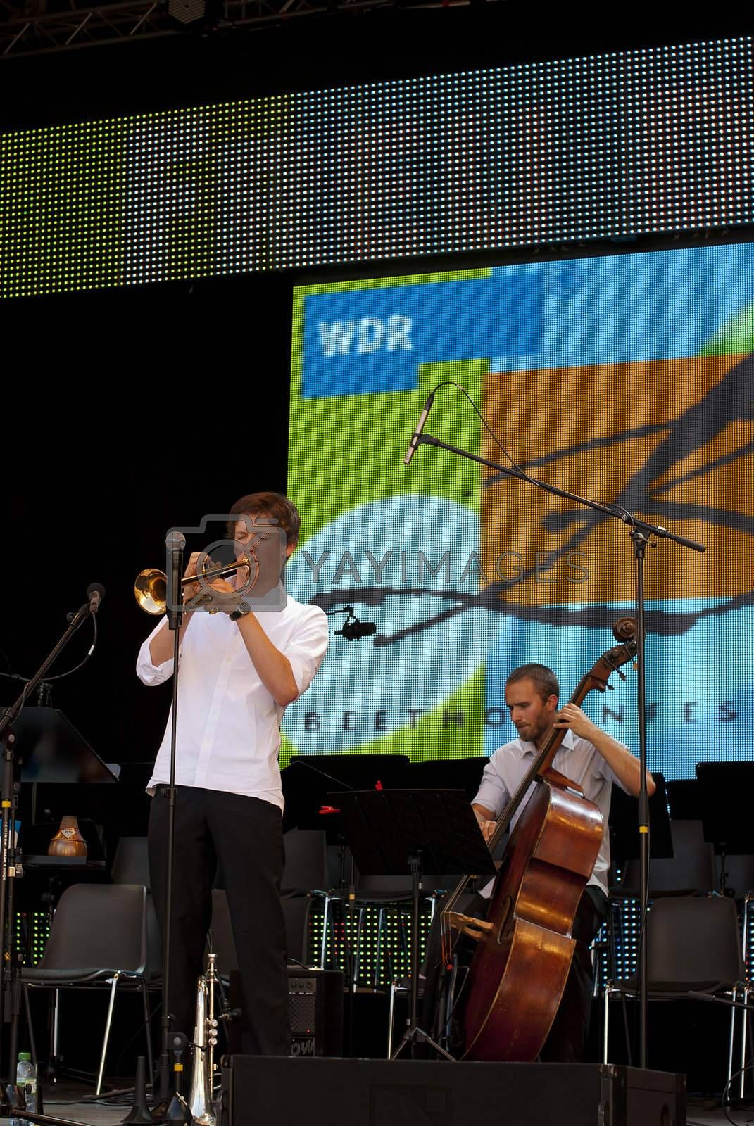 German Day of Unity, Bonn, photo taken on 1 of October 2011, concert of school orchestra at WDR-stage