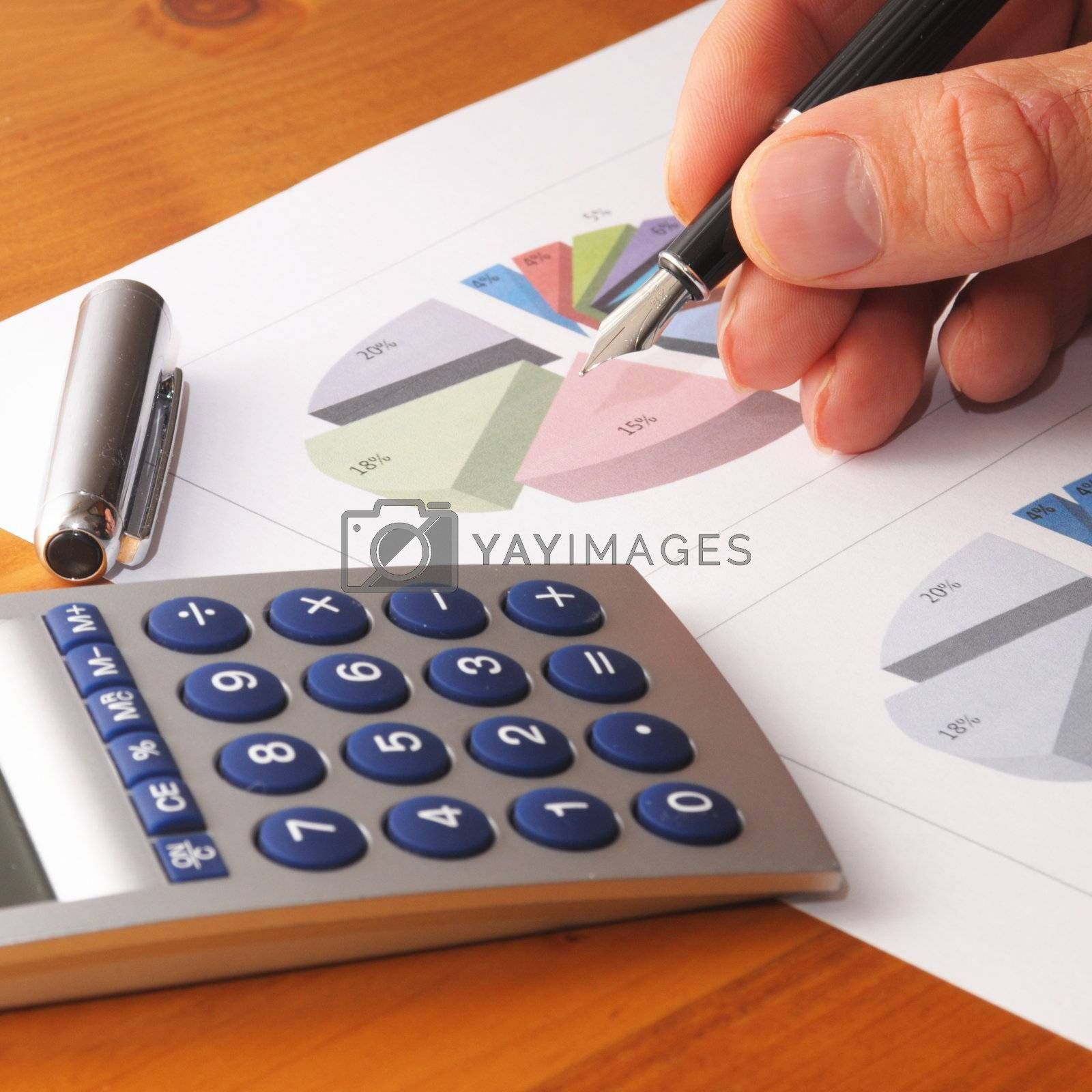 financial chart or diagram showing success in business