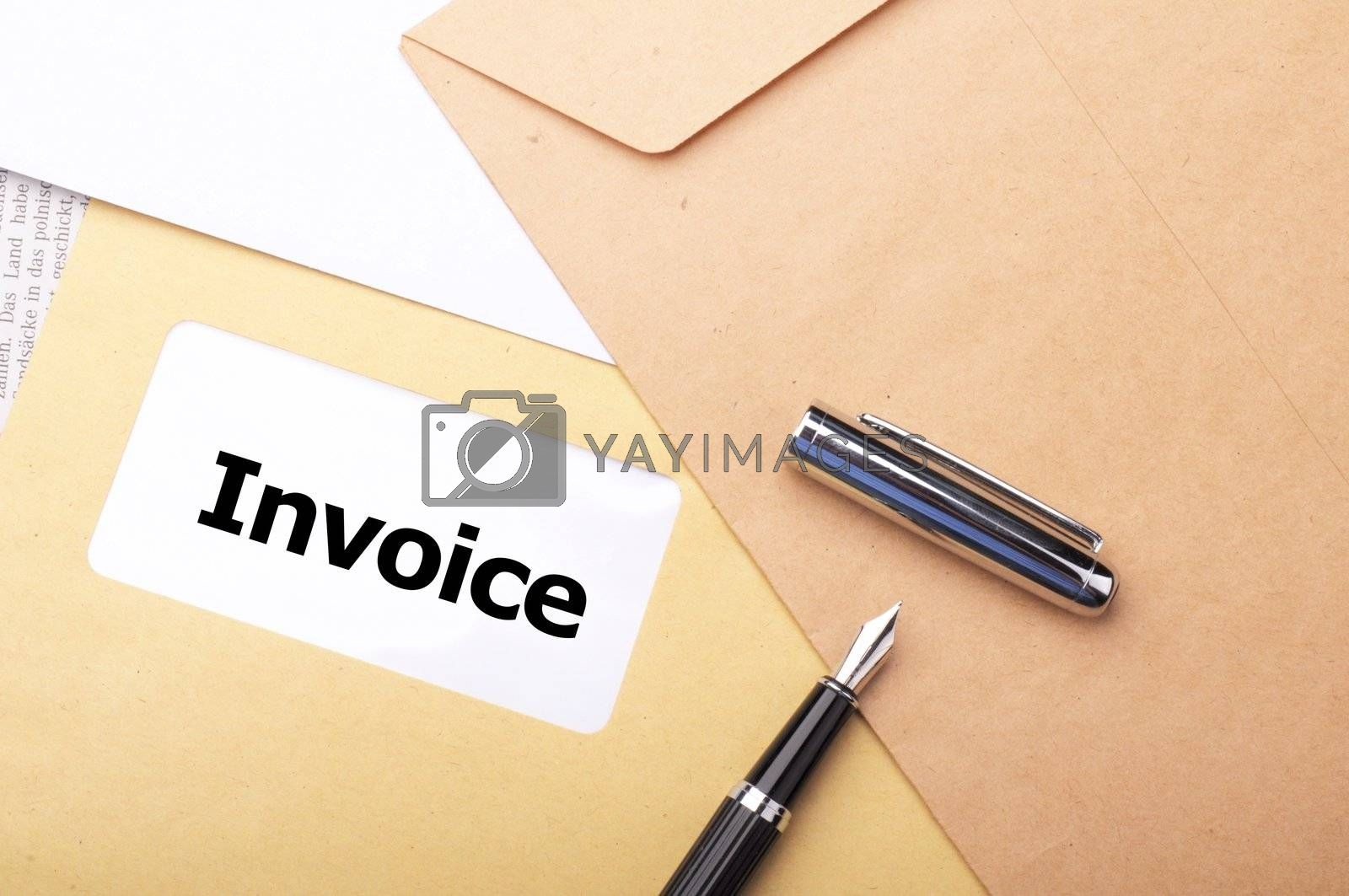 invoice mail concept with envelop showing business