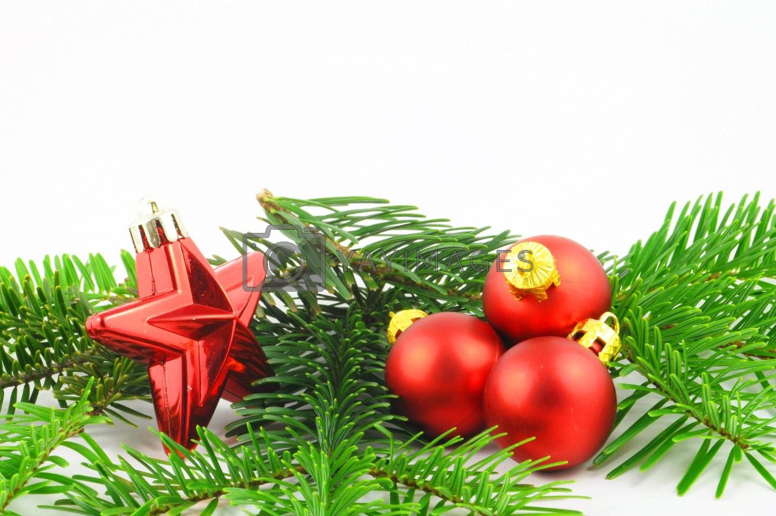 christmas holiday decoration with red and green colors