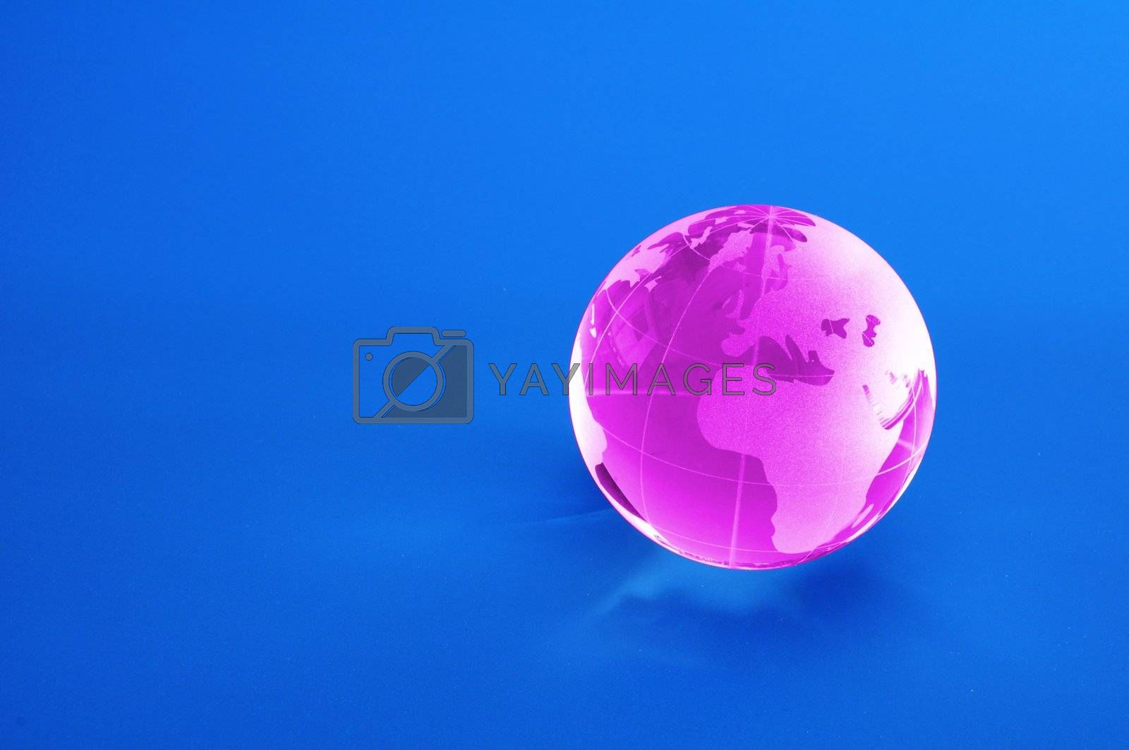 globe and blue copyspace showing showing business or eco concept