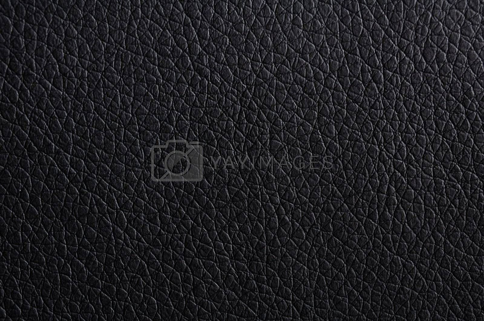 leather texture or background in black with copyspace