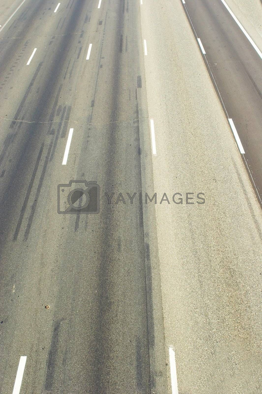 Empty highway without cars. A Texture of asphalt.
