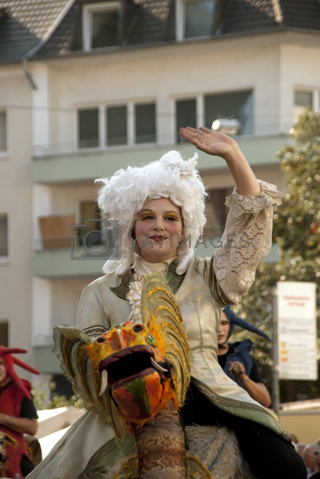 Day of German Unity,  festive parade, photo taken in Bonn on the 3 of October 2011