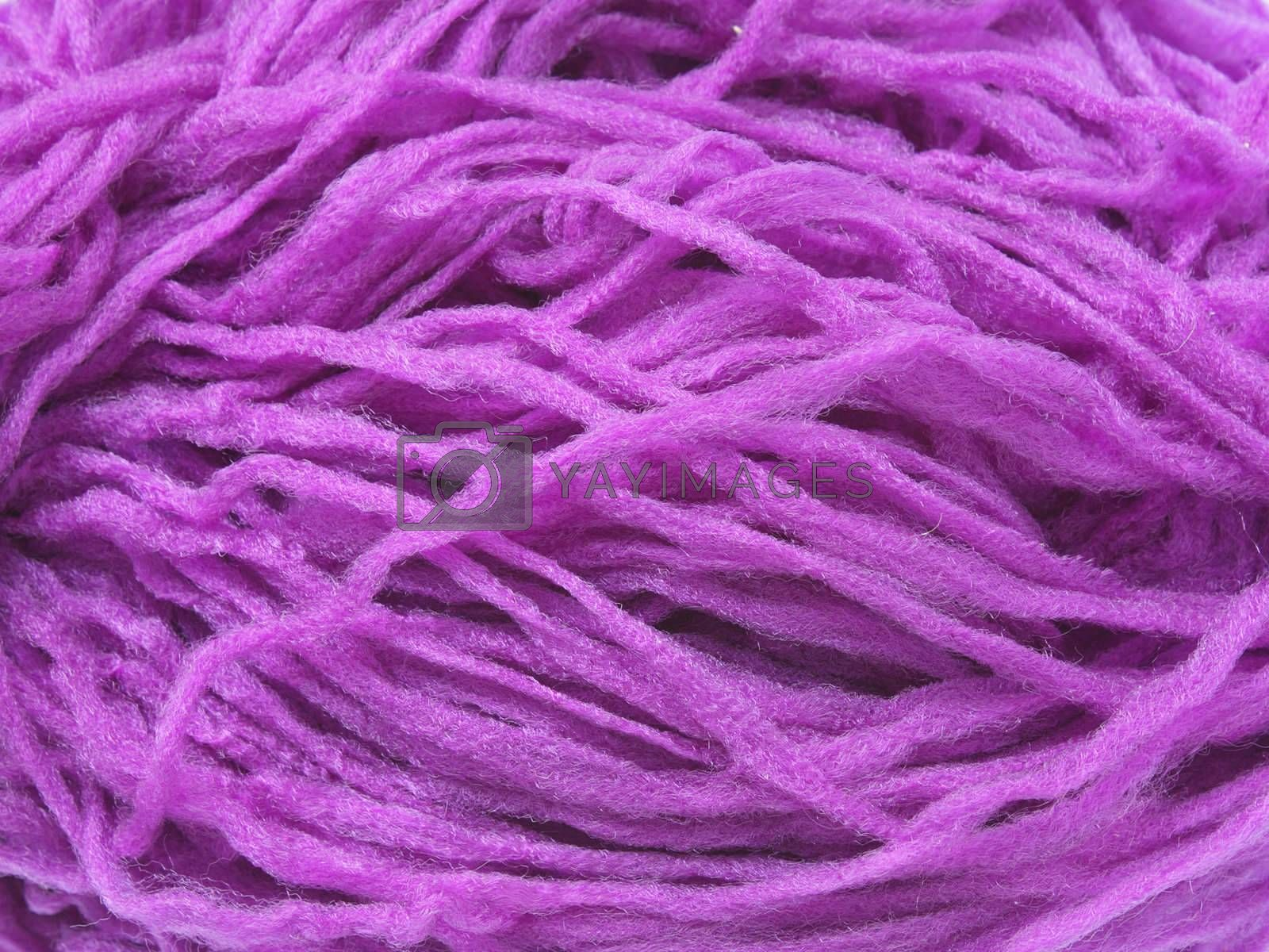 Royalty free image of Violet synthetic yarn by pulen