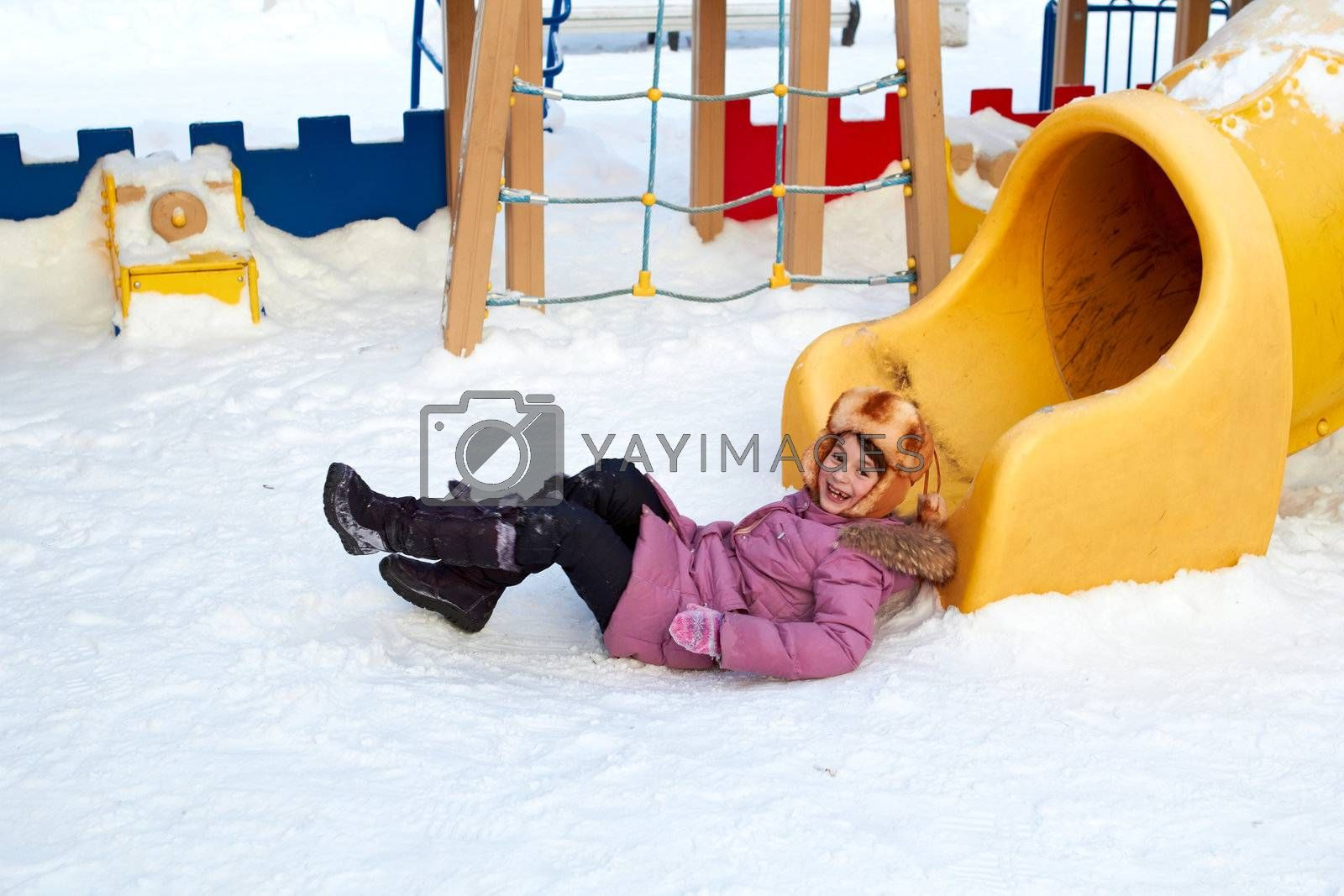 Royalty free image of Child On Playground by michey