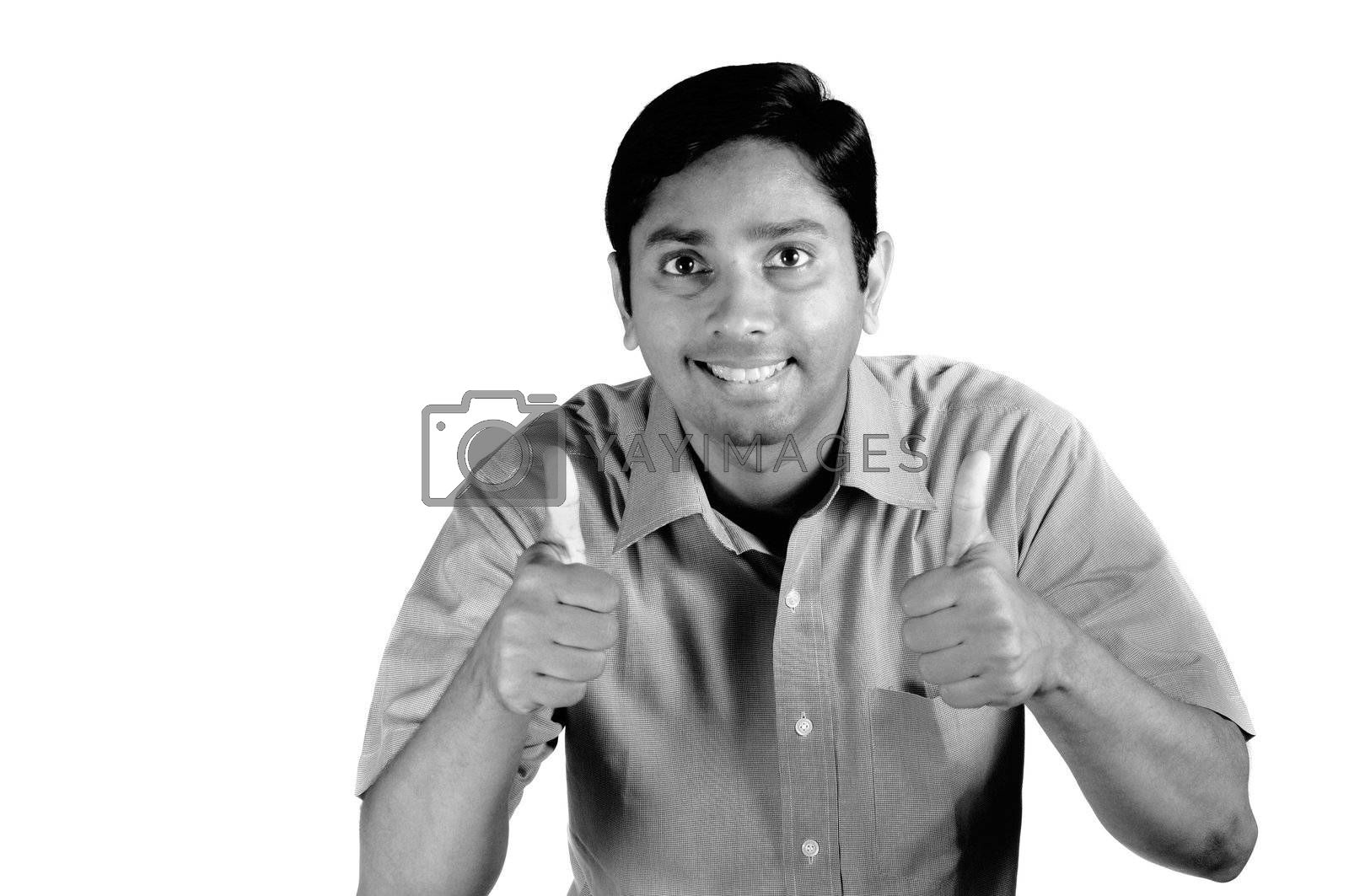 Royalty free image of Thumbs up by pazham