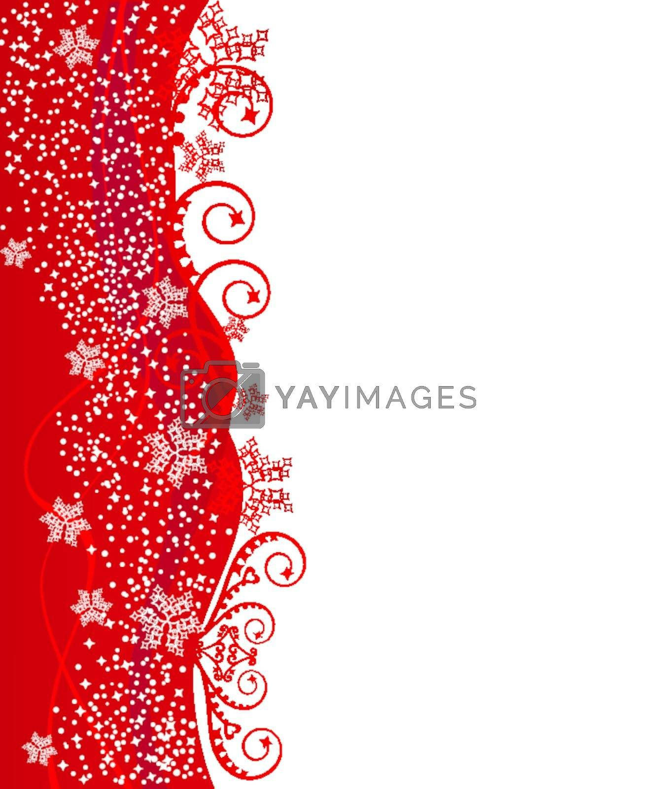 Royalty free image of Red Cristmas border design by misslina