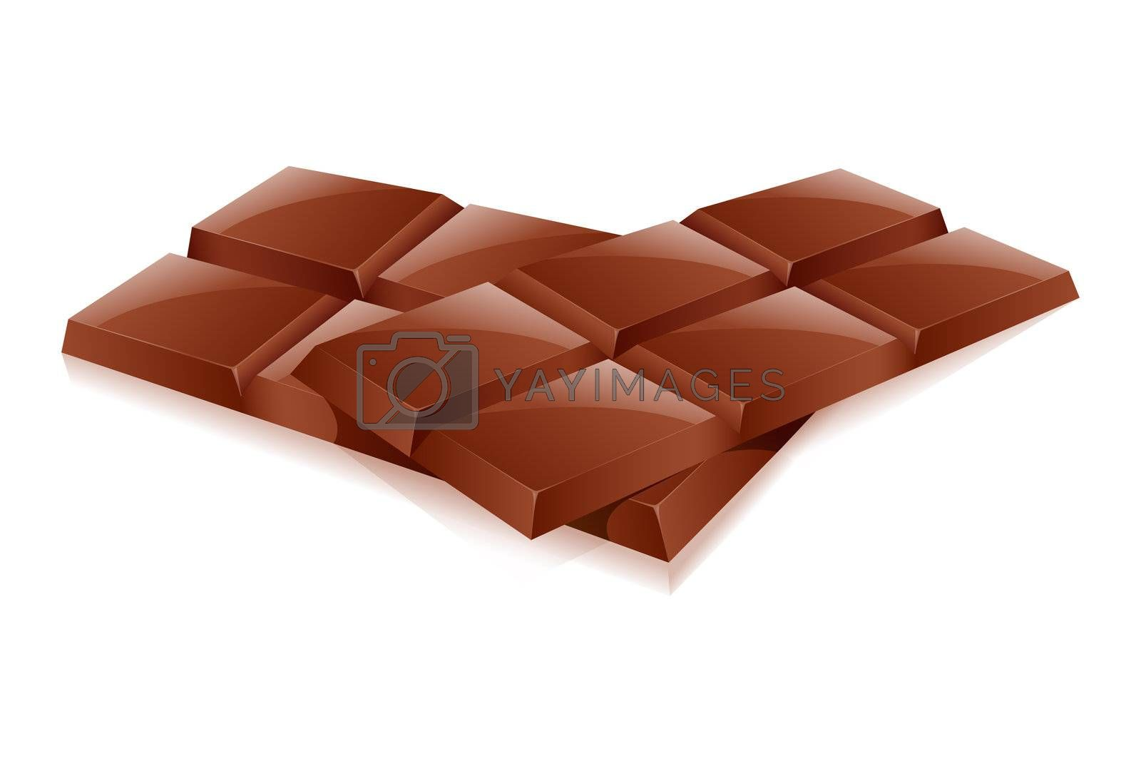 illustration of chocolates on white background