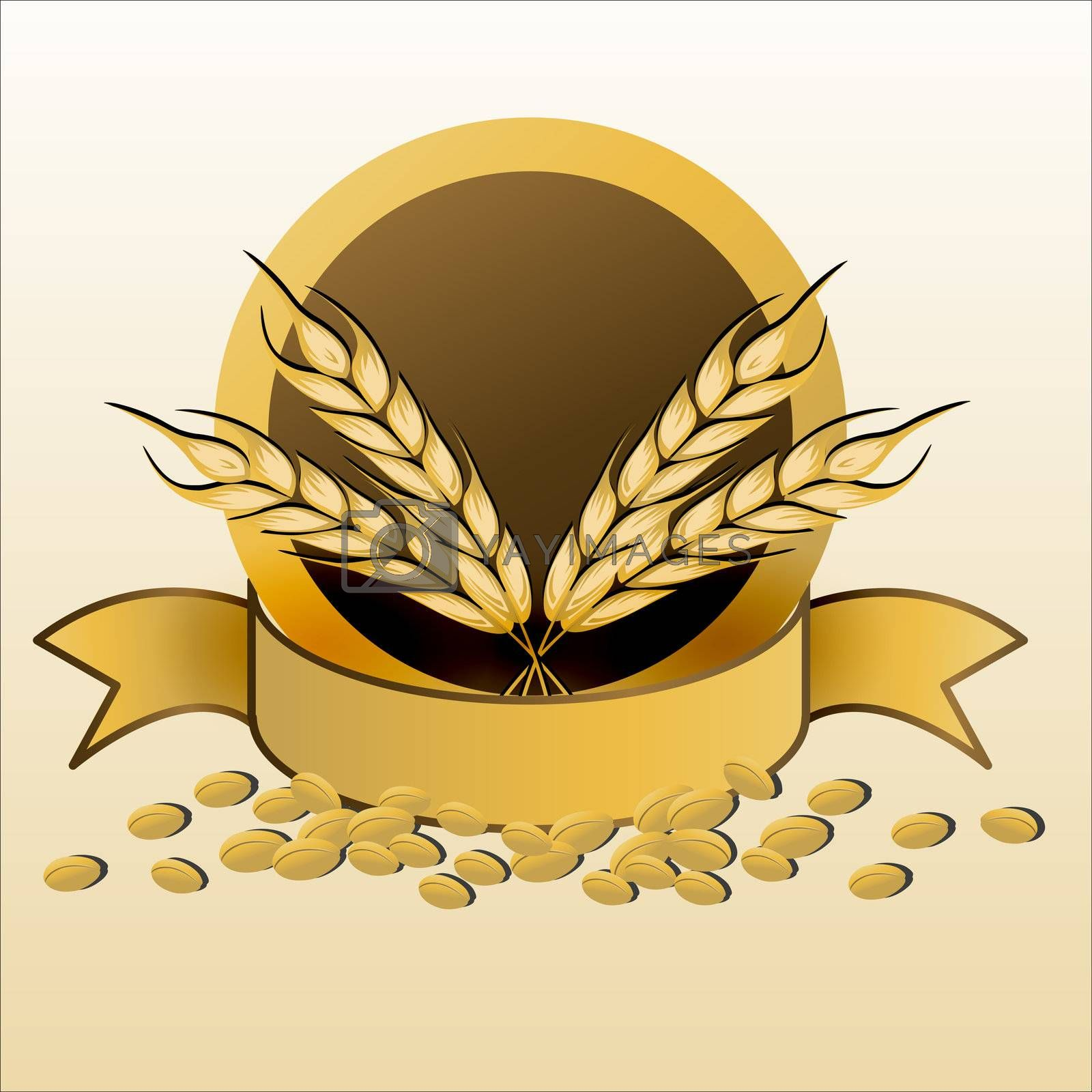 Royalty free image of grain with ribbon by get4net