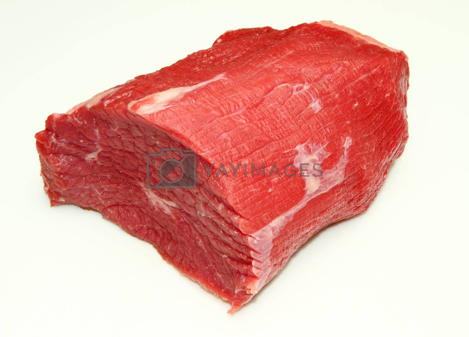 raw meat isolated on white background