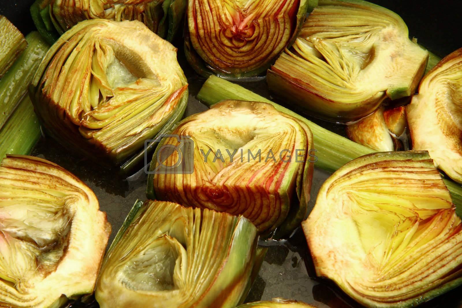 cut artichoke