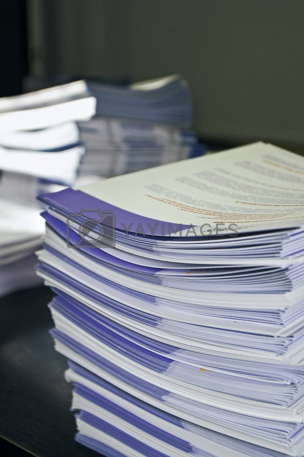 Piles of Handout Pamphlets by simfan
