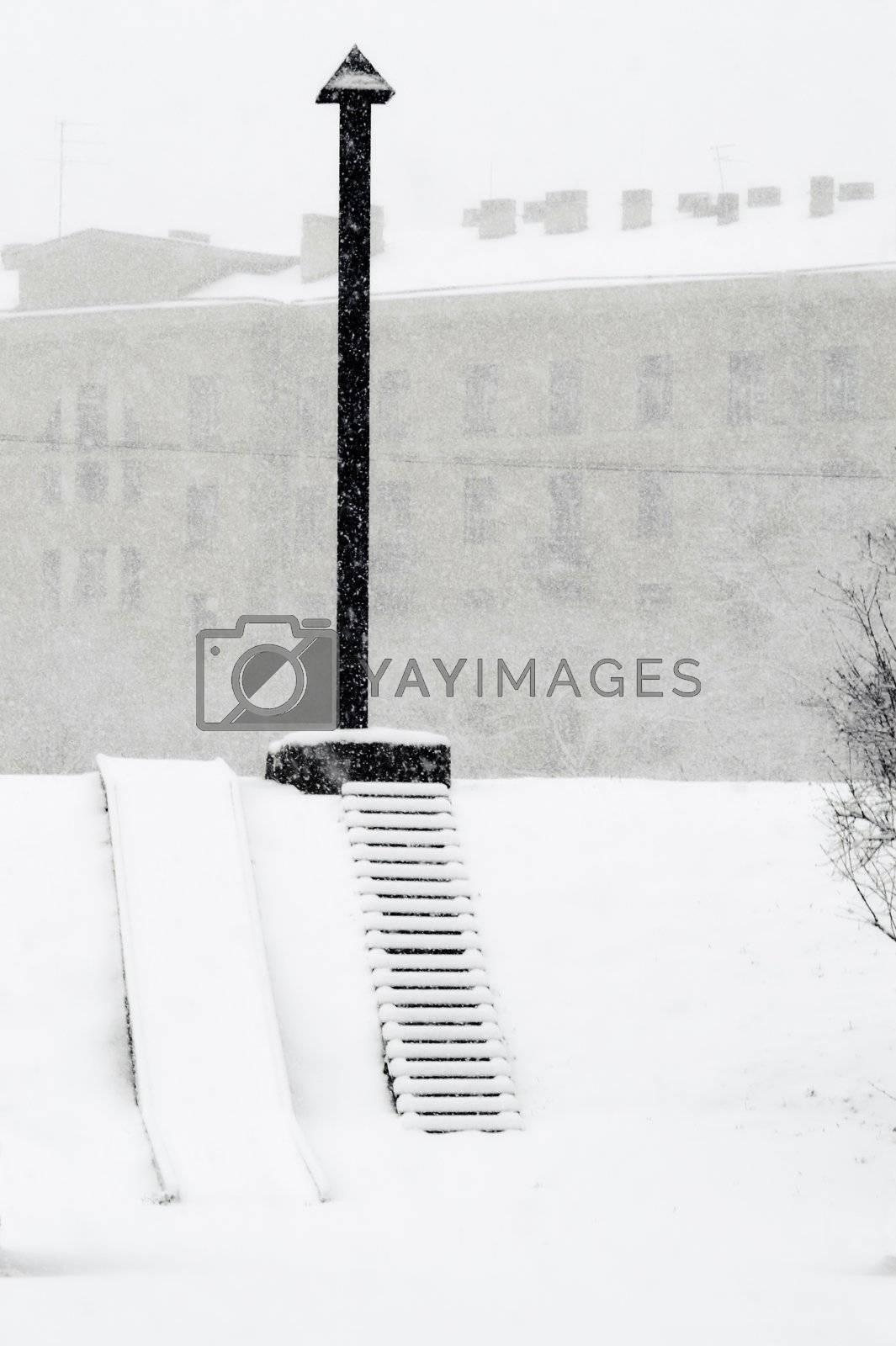 snowing  by simfan