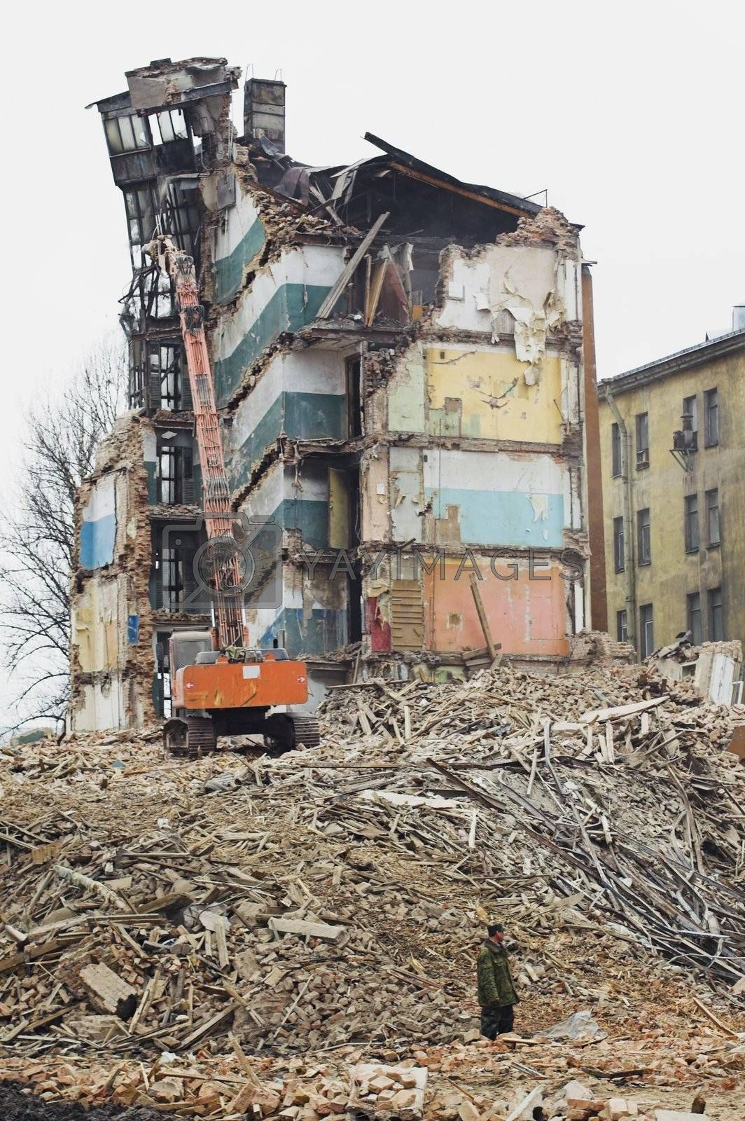 Destruction of Old Apartment Buildings