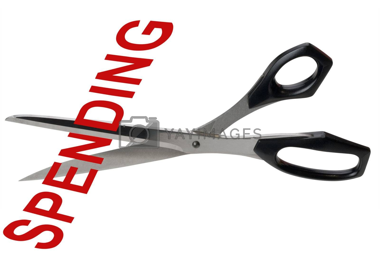 Royalty free image of Spending cuts by f/2sumicron