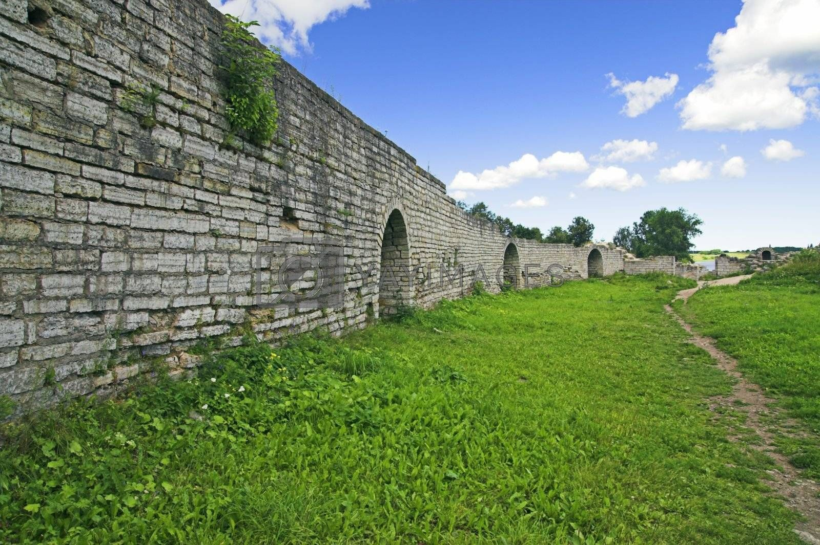 Protective Wall of Old Ladoga Fortress, Ancient Russian Capital