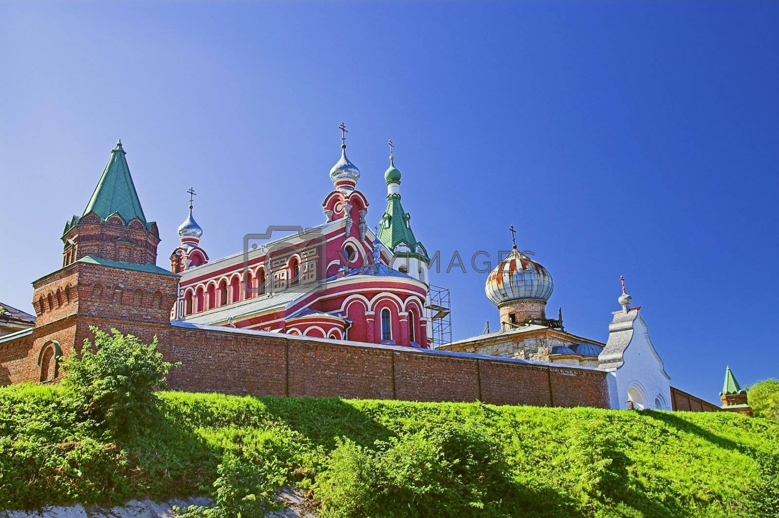 ancient Russian orthodox monastery in Old Ladoga