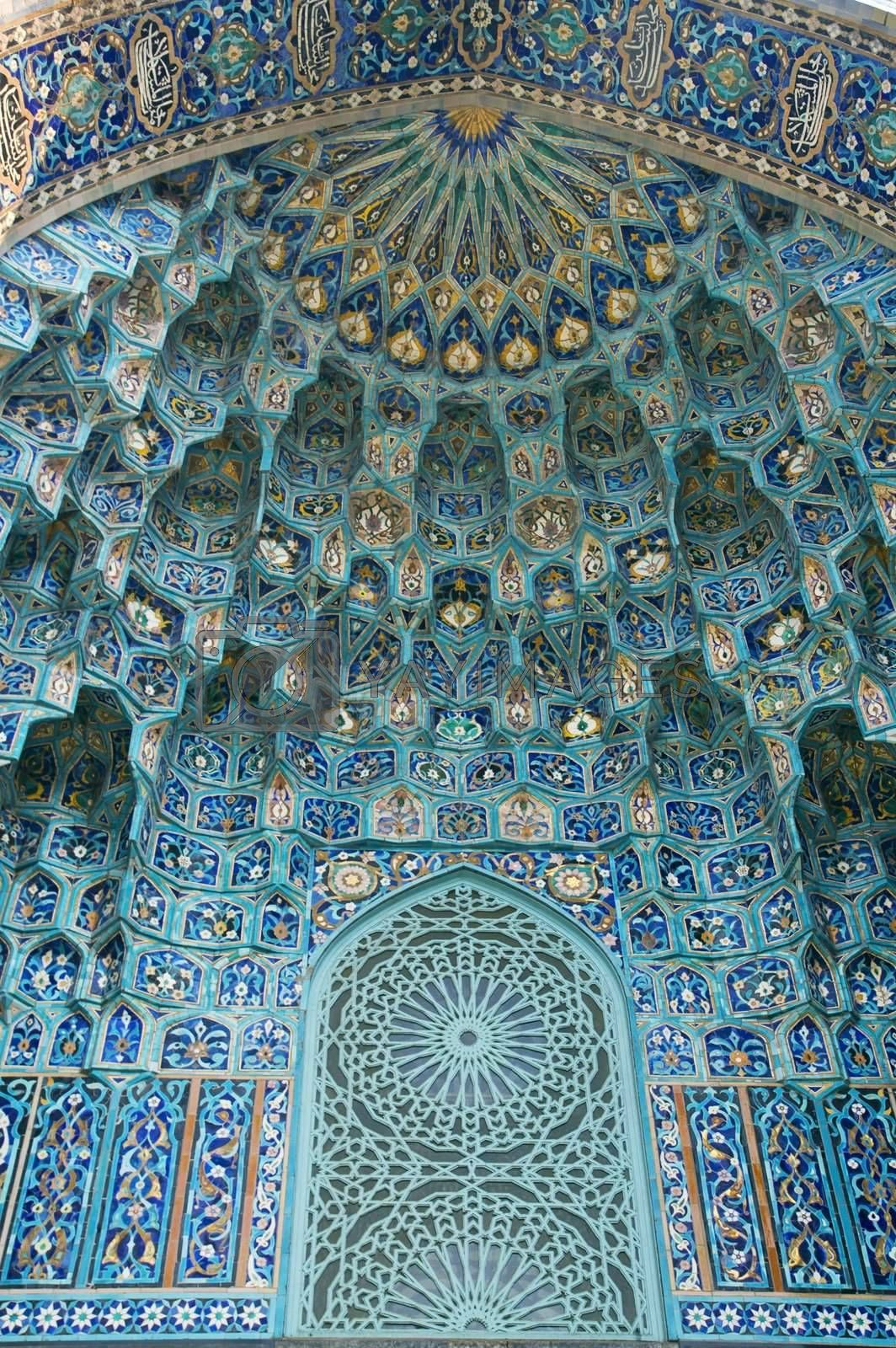Fragment of a tiled wall  by simfan